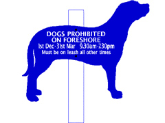 Dog Information Signs